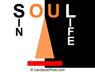 soul scale - graphic design illustratrating the concept of...