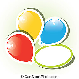 vector colorful paper balloons with copyspace