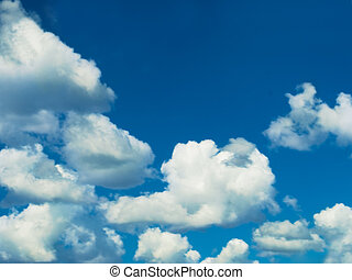 blue sky white clouds on cloudy day - cloudy day with blue...