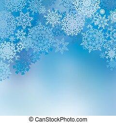 Blue christmas card. EPS 8