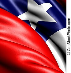 Flag of Chile Close up