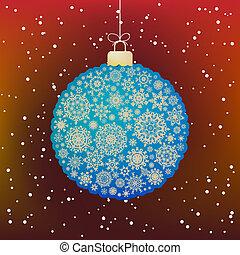 Beautiful Christmas ball. EPS 8