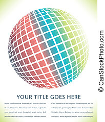 Colorful digital globe design - Colorful digital globe...