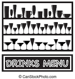 Drinks menu black and white