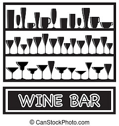 Wine bar black and white