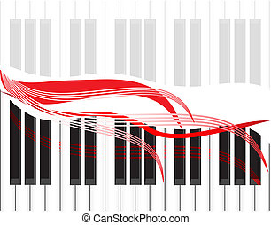The musical check in the form of piano keys