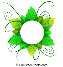 Natural icon from green leaves