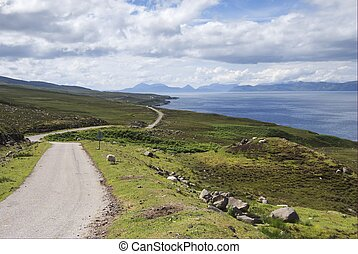 Wester Ross tourist trail - Wester Ross coast route on the...