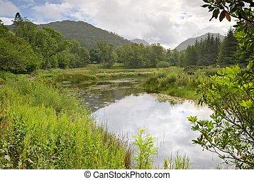 Flowerdale Lake - Flowerdale, Sutherland, NW Scotland