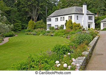 Inverewe Garden - House at Inverewe Garden, Sutherland, NW...