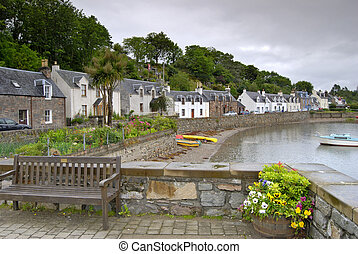 Plockton fishing village - Palm trees at Plockton,...