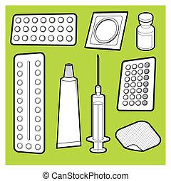 Medicine - Vector illustration of birth control medicine