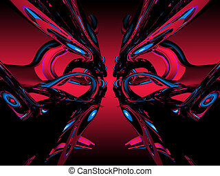 3D abstract psychedelic background
