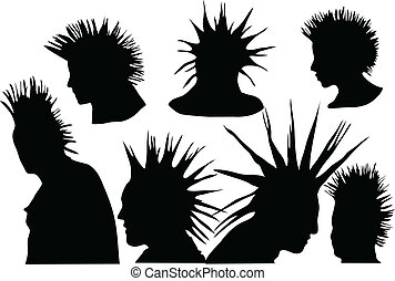 punks - 70s-80s punk rock hairstyle, urban culture