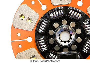 Disk of an automobile clutch - Orange isolated disk of an...