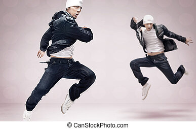 Two hip-hop dancers
