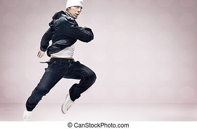 cadera-salto, bailarín