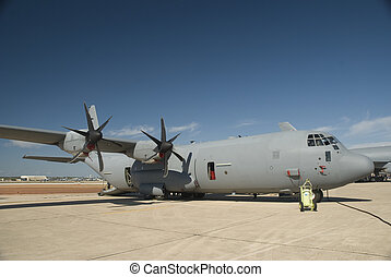 C130J Transport Aircraft - Transport cargo aircraft on...