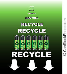 Batteries recycle poster - A poster for a battery recycling...