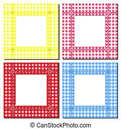 Gingham frames - A vector illustration of gingham frames on...