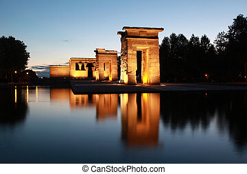 Templo de Debod in Madrid - The Temple of Debod in Madrid...