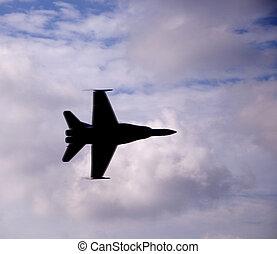 Hornet F18 Silhouette - Airshow San Antonio, TX Nov. 7,...
