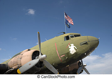 Vintage Bomber - Vintage bomber on static display at Airfest...