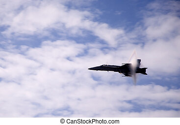 Vapor Barrier Triangle - Airshow San Antonio TX Nov 7, 2009:...