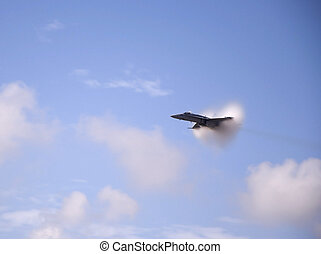 Vapor Cloud - Airshow San Antonio TX Nov. 7, 2009: F18...