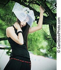 glamour,  CÙte, estilo, senhora, foto