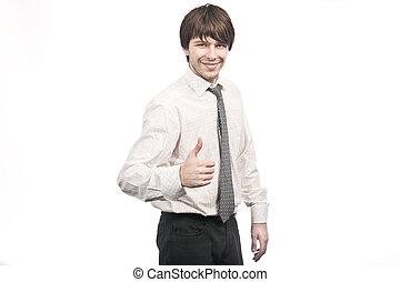 Confident smiling businessman