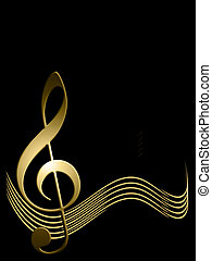 Background of musical symbols - Abstract background of...