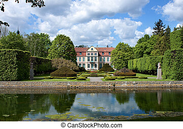 Opatow palace in Gdansk Oliwa - Opatow palace and park in...