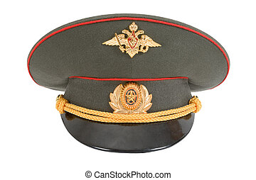 Russian Military Officer Cap isolated on white background