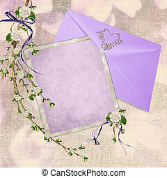 wedding stationery - Lavender wedding stationery with...