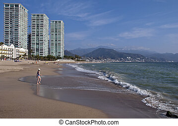 Pacific Ocean beach in Mexico - Pacific Ocean beach in...