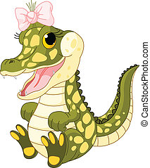 Baby crocodile - Illustration of very cute baby crocodile