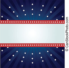 Star Spangled Banner - Patriotic background for Fourth of...
