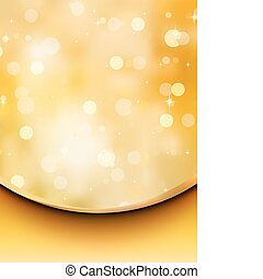 Gold glitter on a light orange background. EPS 8
