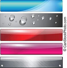 Banners, headers colorful abstract set, vector.