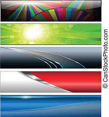 Banners, headers colorful collection, vector