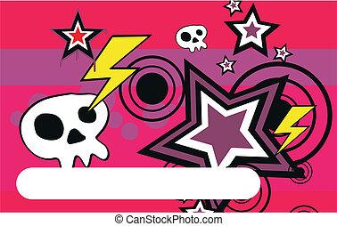 skull cartoon background1