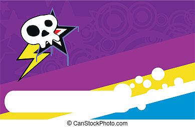 skull cartoon background7