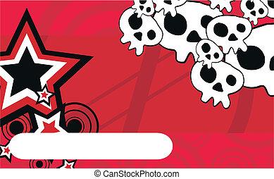 skull cartoon background9