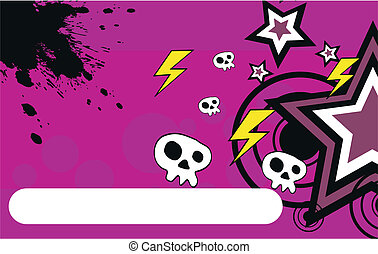 skull cartoon background2