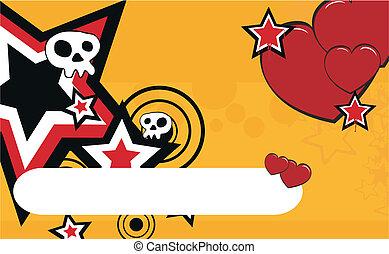 skull cartoon background12