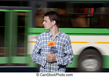 Appointment expectation - The guy with a flower in a hand...