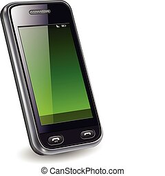 Mobile phone, smartphone realistic vector illustration