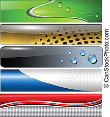 Banners, headers colorful collection, vector.