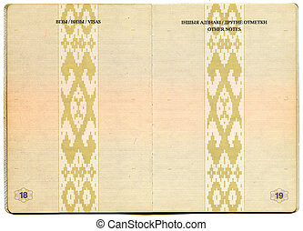 Belorussian passport Pages for visa marks